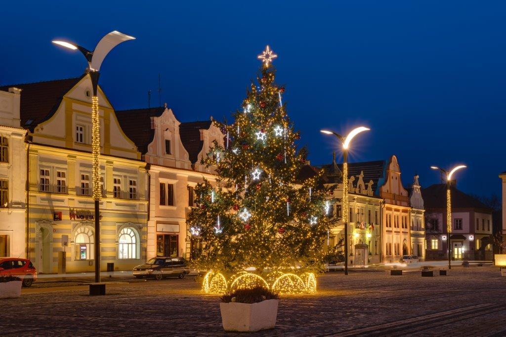 Vánoční osvětlení města