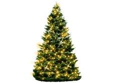 vánoční osvětlení na baterie - stromeček